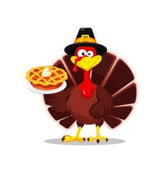Thanksgiving turkey happy thanksgiving day vector