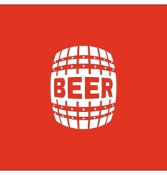 The Beer icon Cask and keg alcohol Beer symbol vector image