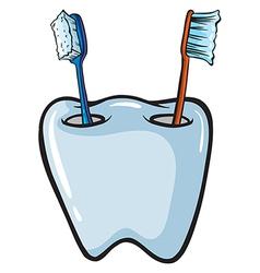 Toothbrush brush holder vector image