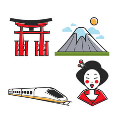 Traditional japanese set vector
