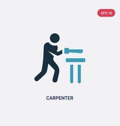 Two color carpenter icon from people skills vector