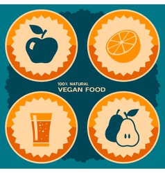 Vegan food poster design vector image
