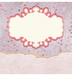 Vintage Valentines Pattern Card vector image