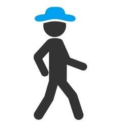 Walking Spy Icon vector image
