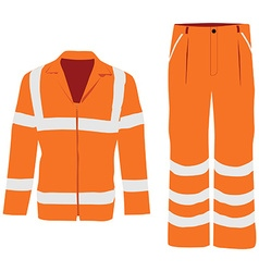 Worker pants and jacket vector