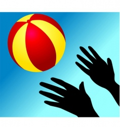 ball playing vector image