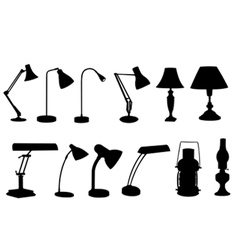 desk lamps collage vector image