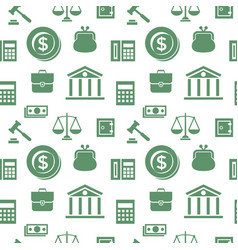 digital green business icons vector image vector image