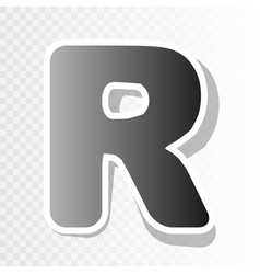 letter r sign design template element new vector image
