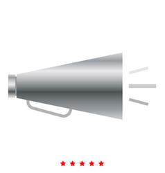 retro loudspeaker icon color fill style vector image