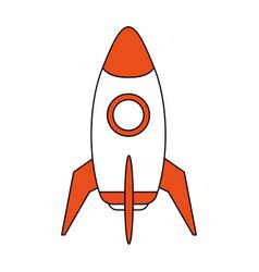 Space rocket launch icon vector