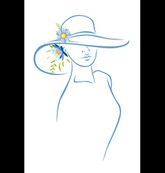 Woman with hat vector image