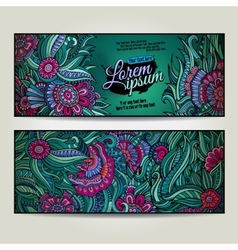 Abstract decorative floral backgrounds vector image