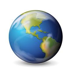Blue marble - earth vector