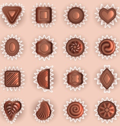 chocolates of different shapes vector image