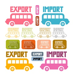 Export Import Icons Isolated on White Background vector image vector image