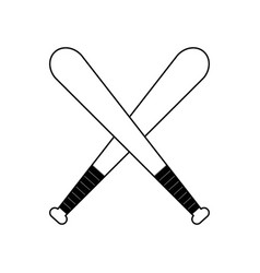 Figure baseball bats to play icon vector