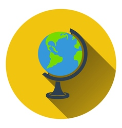 Flat design icon of Globe in ui colors vector image vector image