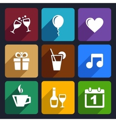 Party and Celebration icons set 29 vector image vector image