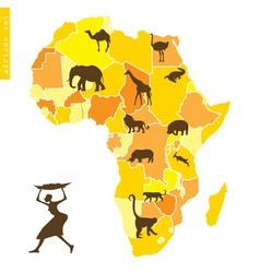 african set vector image