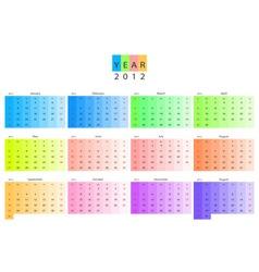 calendar 2012 vector image vector image