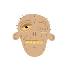 cute dead man head avatar in cartoon style vector image