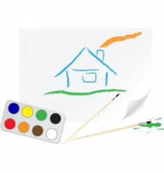 drawing home vector image vector image
