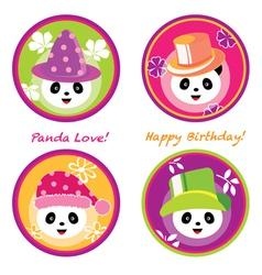 fun panda vector image