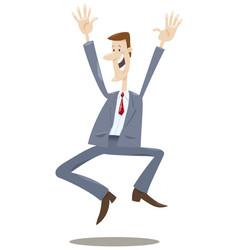 happy trader cartoon vector image vector image