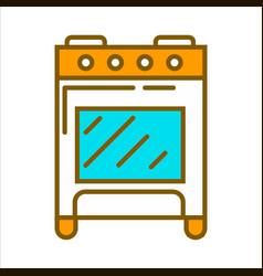 orange home cooker vector image