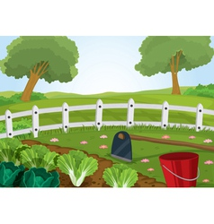 farm and gardening tools vector image vector image