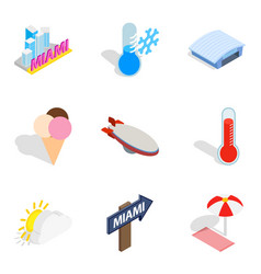 hop icons set isometric style vector image vector image