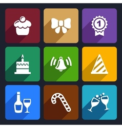 Party and Celebration icons set 30 vector image vector image