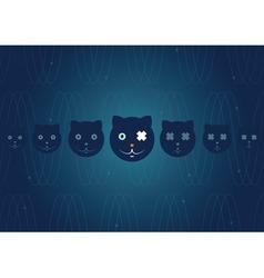 schrodingers cat vector image vector image