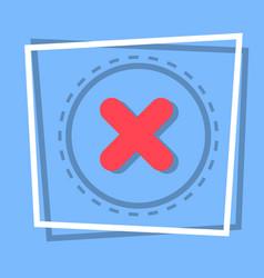 x icon cross decline button interface concept vector image