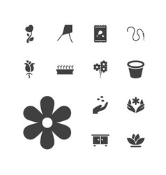 13 flower icons vector