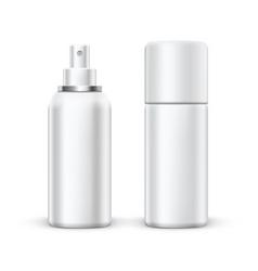 3d blank metal spray deodorant bottle with cap vector