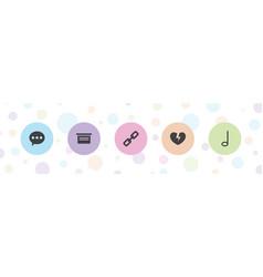 5 button icons vector