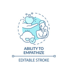 Ability to empathize turquoise concept icon vector