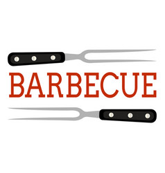 Abstract bbq label vector