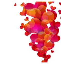 Abstract fly hearts image vector image
