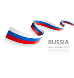 banner with russian flag colors vector image