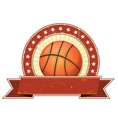 basketball grunge and vintage banner vector image