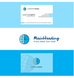 beautiful clock logo and business card vertical vector image