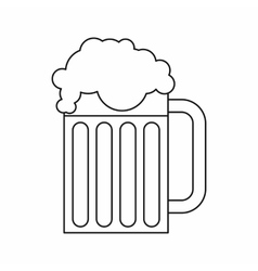 Beer mug icon outline style vector image
