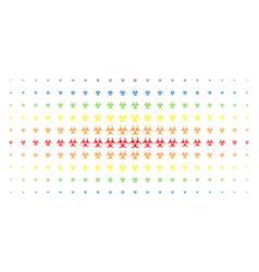 biohazard spectrum halftone grid vector image