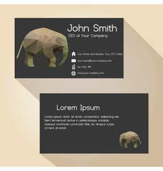 black simple business card design with little vector image