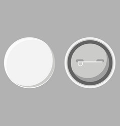 blank button badge front and back view vector image
