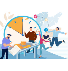 business team financial success concept vector image