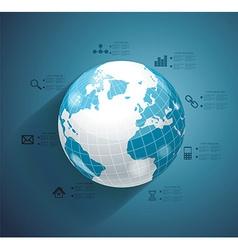 Business world concept modern design template vector